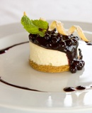 Blueberry Cheesecake summer fruit coulis