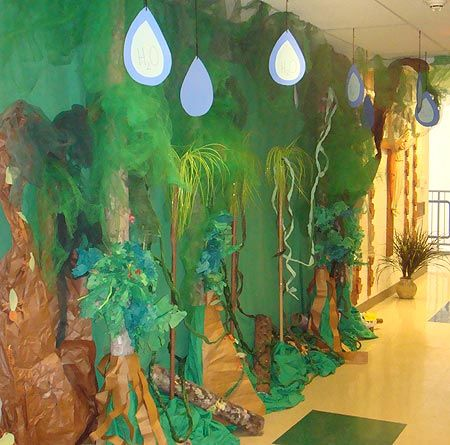 Rainforest Classroom Decorations - Rainforest Ecosystem...Wow out in the hall!