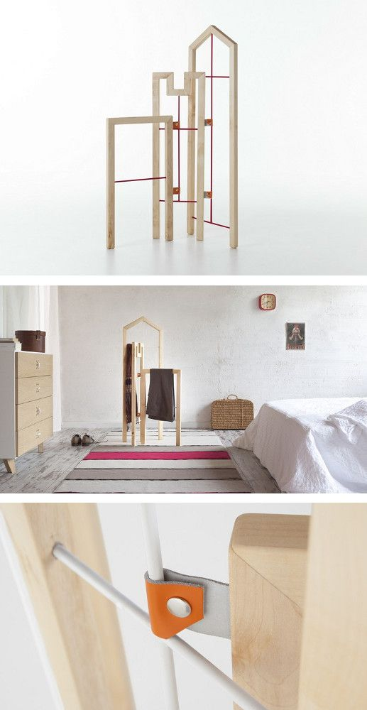 solid wood valet stand tusciao by formabilio design. Black Bedroom Furniture Sets. Home Design Ideas