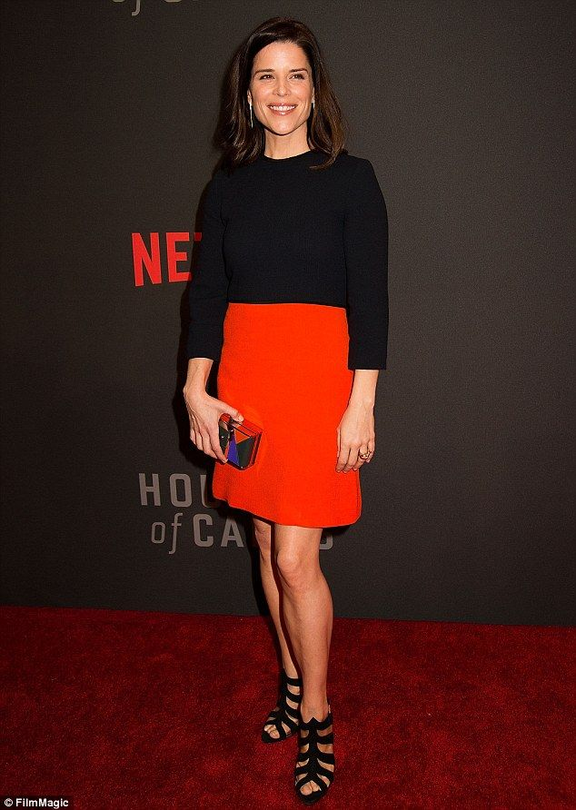 Campbell's superb: Neve stole the show by showing off her toned legs at the House Of Cards premiere in Washington DC last month