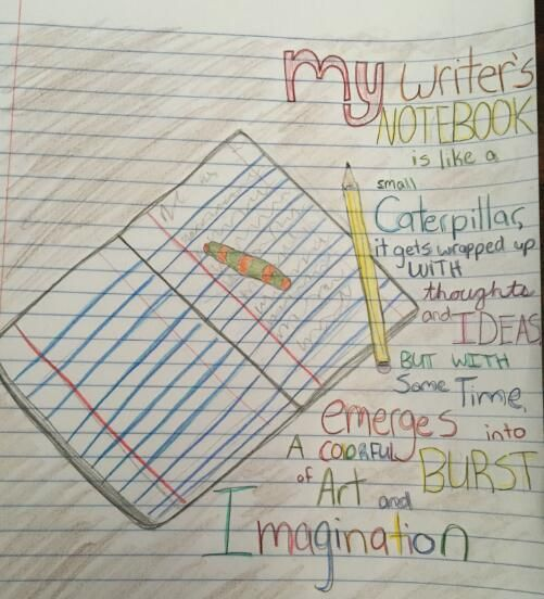 "Here is one of our four winners for 2016's national writer's notebook metaphor contest.  This one comes from Emilia in Ms. Gruenhagen's class. ""Repin"" or ""Like"" this pin by October 31, 2016.  The student with the most likes and re-pins will earn a $25 Amazon Gift Card!"