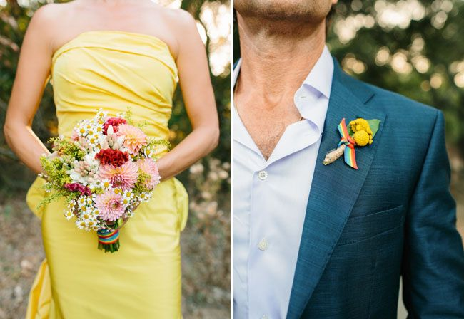 love the boutineer flower, both shape, texture and color. Does it work for summer wedding?!