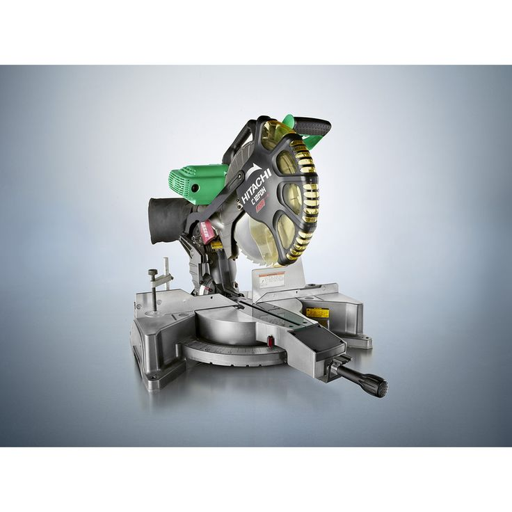 shop hitachi 12 in in 15 amp bevel laser compound miter saw at