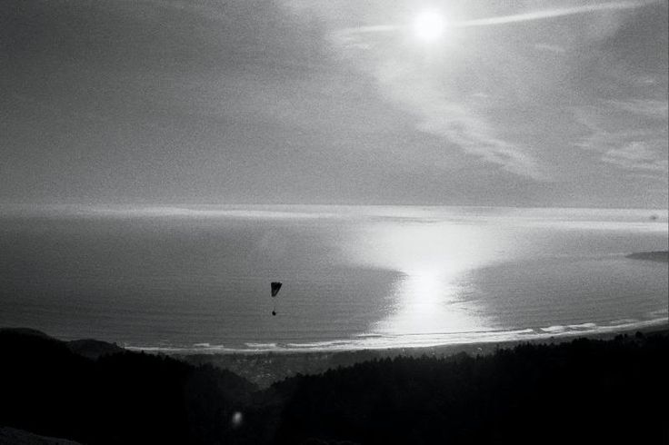 A Paraglider in the Marin Headlands, California