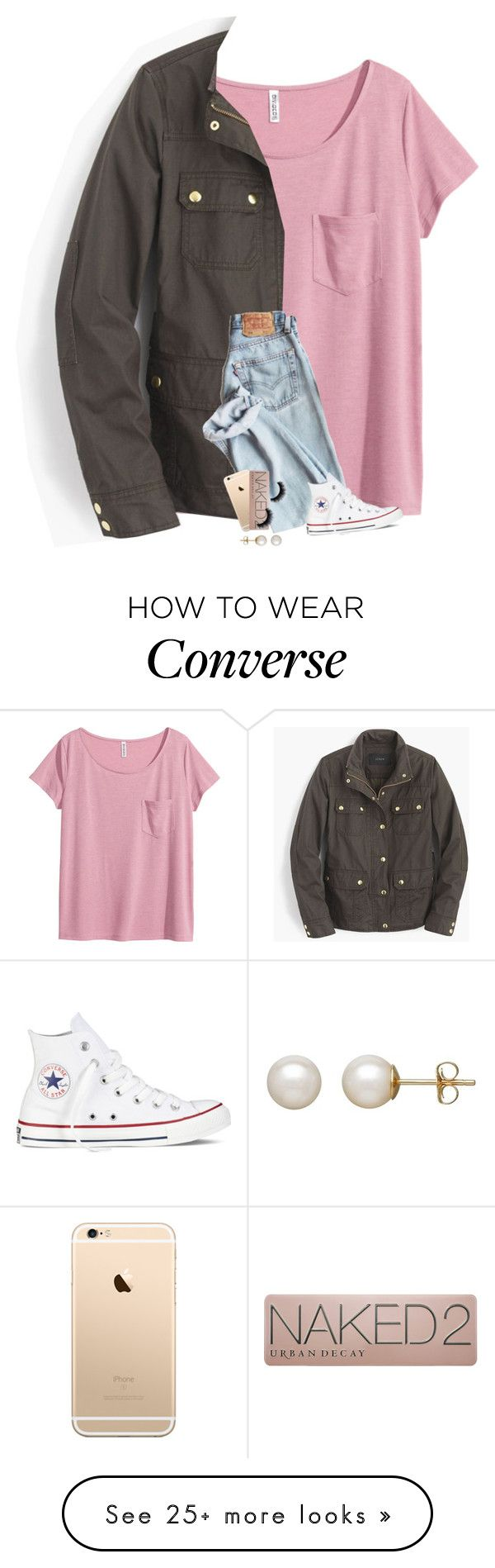 """""""RTD!! I need help!!!"""" by kat-attack on Polyvore featuring H&M, J.Crew, Converse, Urban Decay and Honora"""
