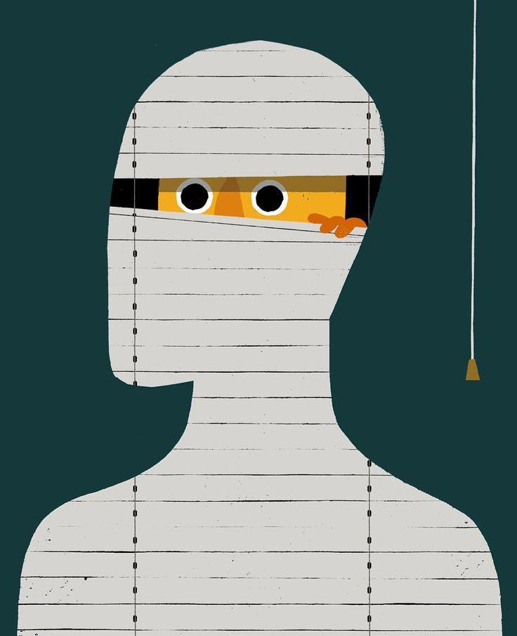 #anxiety #illustration by maddenillustration