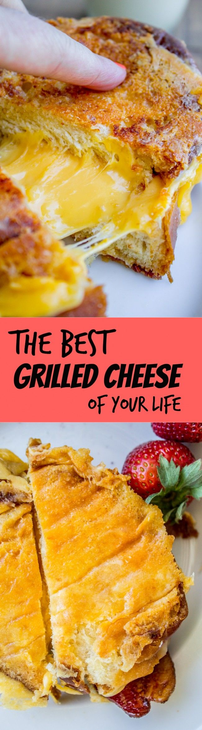 The Best Grilled Cheese of Your Life from The Food Charlatan. Grilled cheese doesn't deserve a post on my food blog, you say? WRONG! Fresh challah bread, ultra stretchy cheese in the middle, crispity crunchy cheese skirt on the outside of the sandwich. Did I mention the bacon? BOOM. This is the bet childhood memory, kicked up a notch.