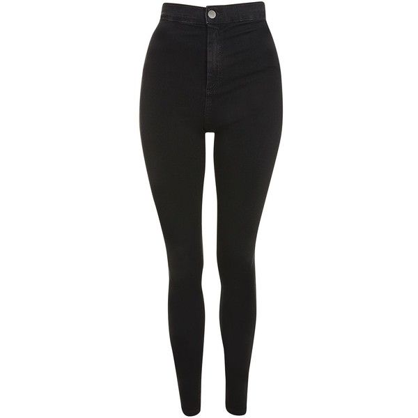 Topshop Tall Black Joni Jeans ($48) ❤ liked on Polyvore featuring jeans, bottoms, pants, black, topshop jeans and tall jeans