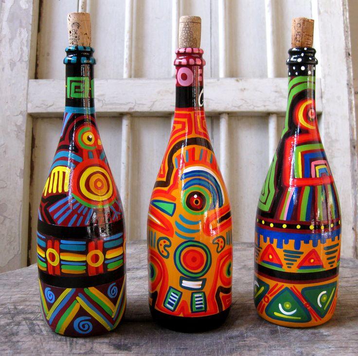 Botellas con Molas-art