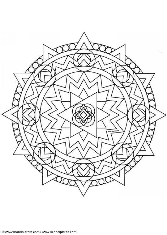 Coloring Page Mandala 1402d