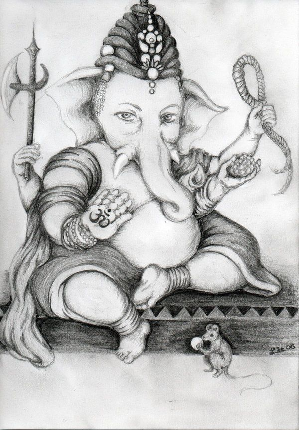Lord ganesha pencil sketch photos jpg 600x862