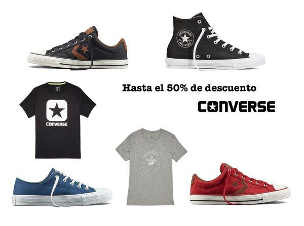 Zapatillas y ropa Converse con rebajas hasta el 50%