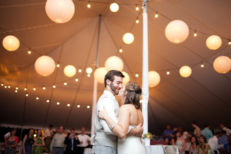 Night shot of the reception tent.Night Shots, Wedding Photography, Receptions Tents, Jo Anne