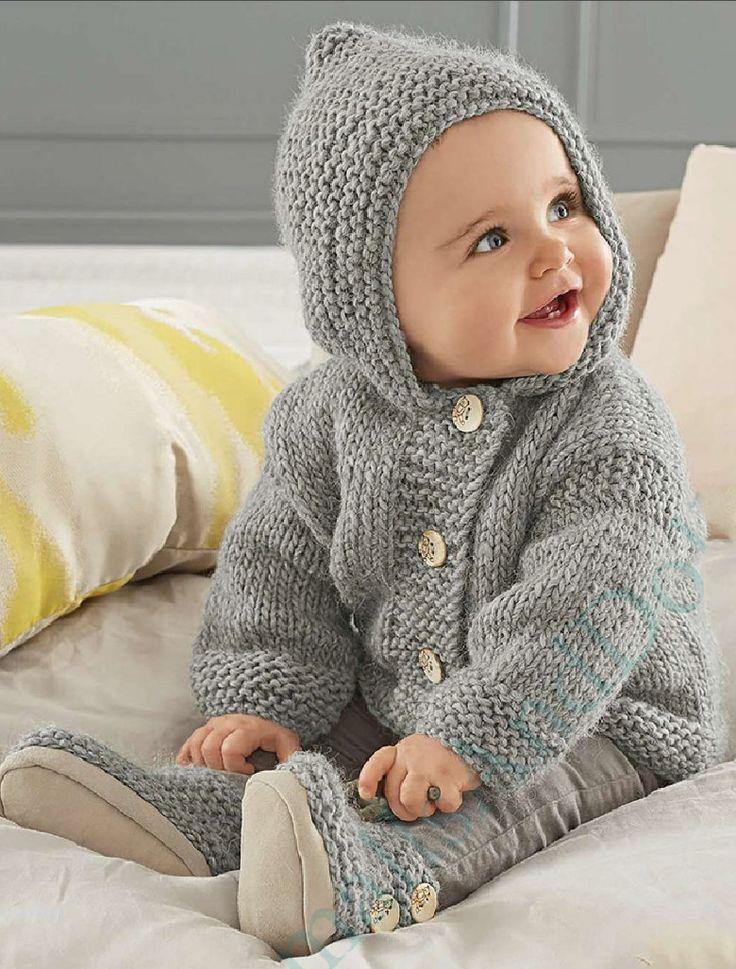 Vintage Knitting Pattern Baby Pixie Hoodie Hooded Jacket