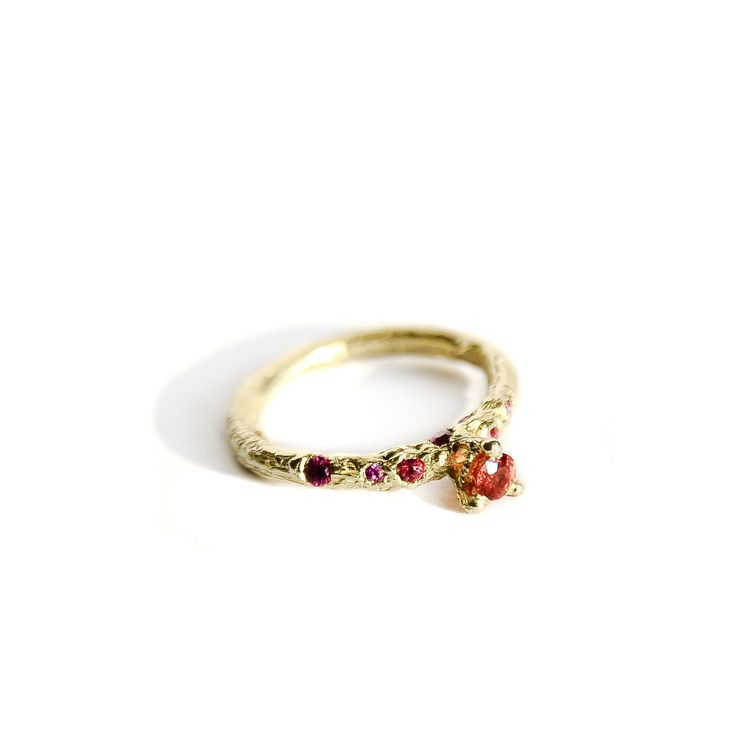 """""""Tipsy"""" ring    Alternative (engagement) ring, imperfect by choice, sophisticated in essence and jaunty in color and detail. It is the coolest engagement ring you have ever seen. Extremely elegant, lustrous and comfy as well as remarkably hip and unconventional, Ancient mood with a playful modern twist."""