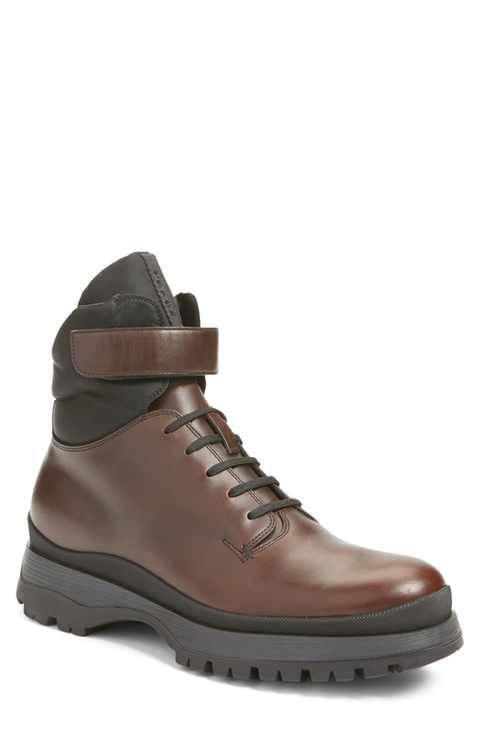Prada Round Toe Boot (Men)