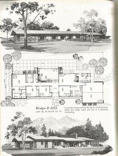 Vintage House Plans, Vintage Homes, Large Homes Design B 2255