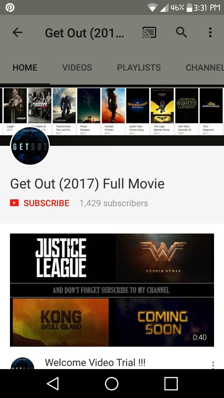 I hate lying folk😕YouTubers...they claim that they have the movie on their channel but when you hit the play button...you get sent somewhere else through a link😕If you don't have the movie You Tubers remove it from your channel and stop lying and wasting people time because you want high reviews for your lies😕