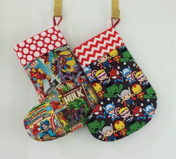 Handmade Christmas Stockings - Avengers 2 Collection by MattynMe on Etsy