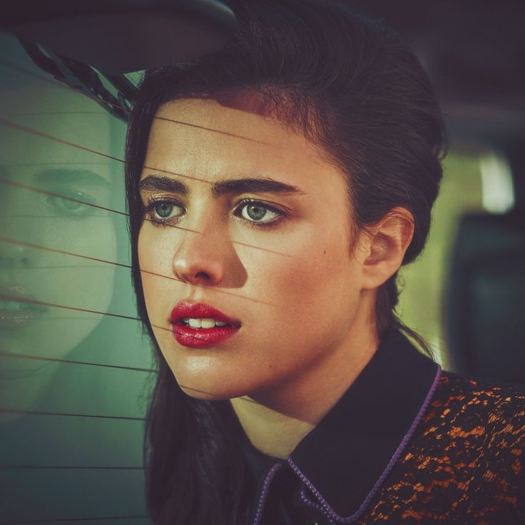 "Rising star Margaret Qualley ravishes in this beauty story by Guy Aroch, featuring makeup from Chanel Beauty's ""LA Sunrise"" collection. Naturally, th…"