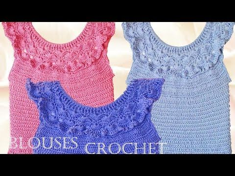 Blusa tejida a crochet - Make Knitting beautiful blouses for summer - YouTube