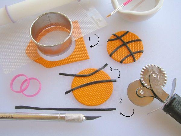 Basketball fondant tutorial