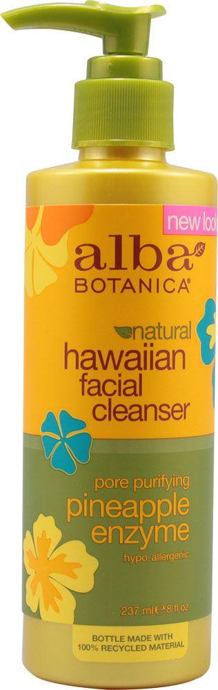 Alba Botanica Hawaiian Pineapple Enzyme Facial Cleanser -- 8 fl oz