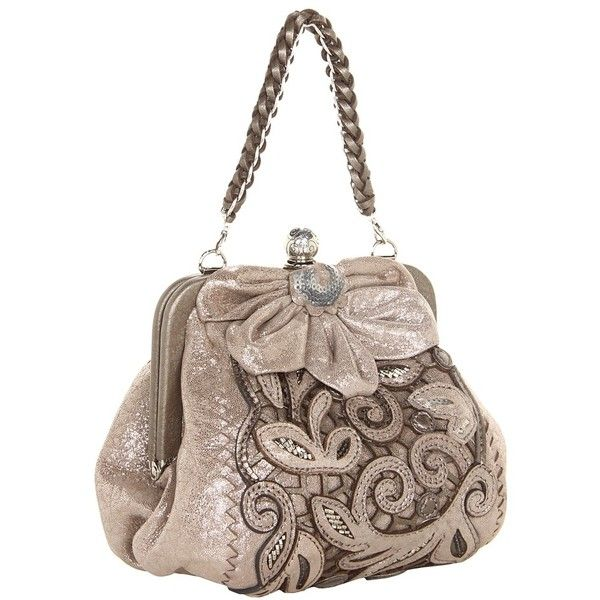 Brighton Catch the Moon Pursette ($210) ❤ liked on Polyvore featuring bags, handbags, purses, moonstone pearl, sequin purse, leather hand bags, brighton purses, genuine leather handbags and chain strap purse