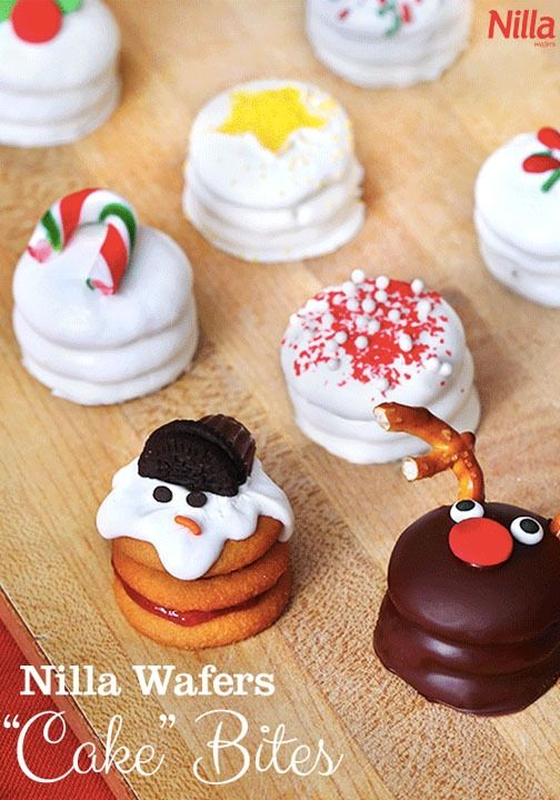 Nilla Wafer Holiday Cake Bites