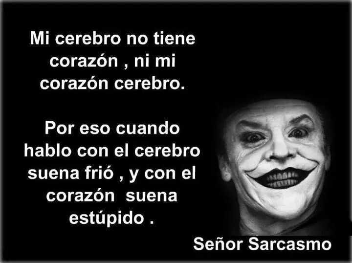 Señor sarcasmo