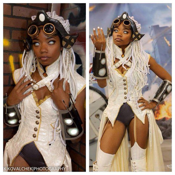 Steampunk Storm.  Who is this cosplayer?  She's Dope #29DAYSOFBLACKCOSPLAY #REPRESENTATIONMATTERS