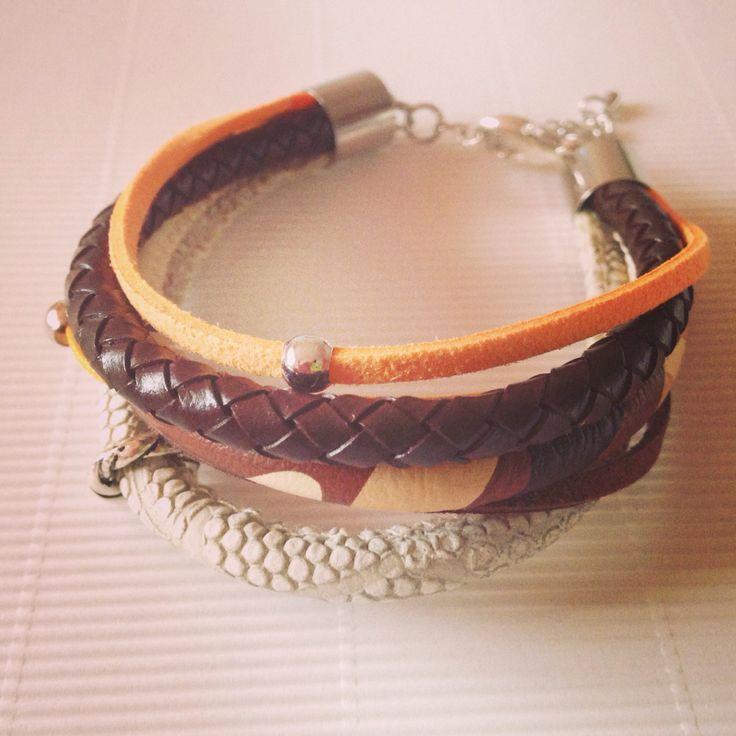 Brazowo-pomaranczowa. Plecionka i wąż