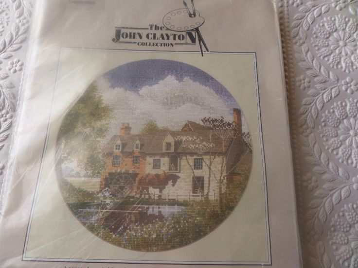 "Cross stitch kit  ""Morning Delivery"" by John Clayton 14 count aida  DMC cottons by MaddisonsRainbow on Etsy"