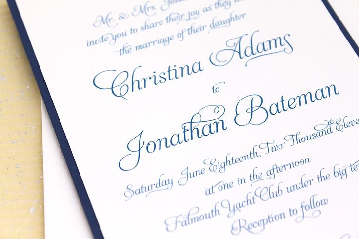 Wedding Invitation Elegant Script Sample Set by ConcertinaPress