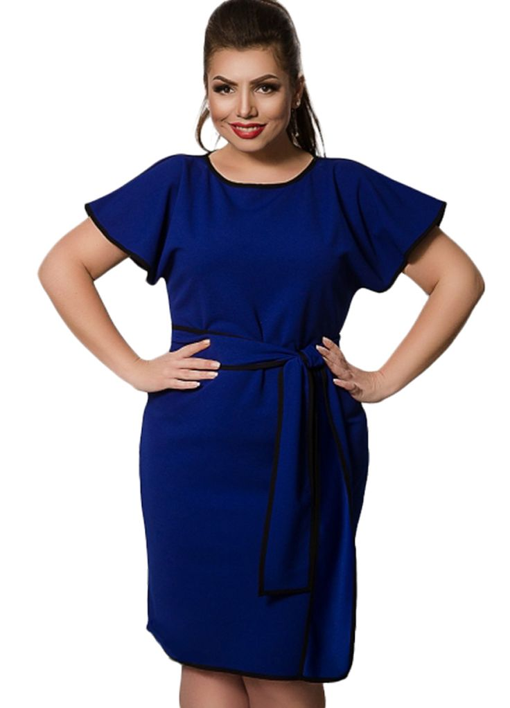 Color Block Big Size Women Belted Bodycon Dress_Plus size Dress_Plus size Clothing_Sexy Lingeire | Cheap Plus Size Lingerie At Wholesale Price | Feelovely.com
