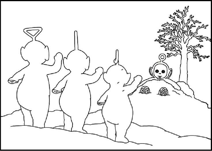 teletubbies po and friends coloring pages for kids printable teletubbies coloring pages for kids - Teletubbies Dipsy Coloring Pages