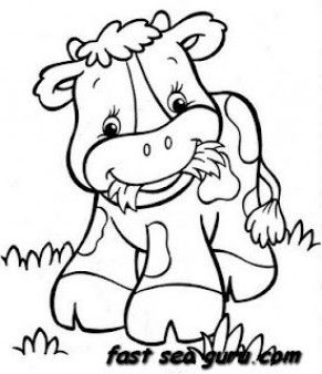 Printable farm a happy cow babay coloring pages - Printable Coloring Pages For Kids