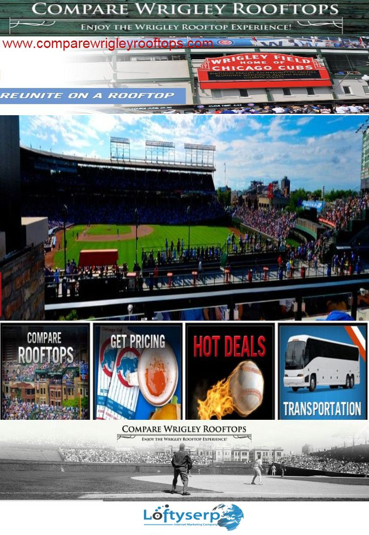 For Sale Chicago Cubs Rooftop Tickets at historic Wrigley Field We simplify the Rooftop shopping experience for our customers by consolidating pricing and availability - www.comparewrigleyrooftops.com