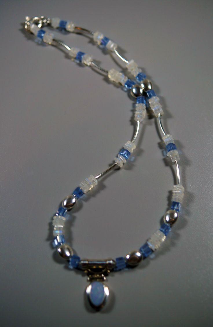 Australian Opal & Moonstone with Sterling Silver