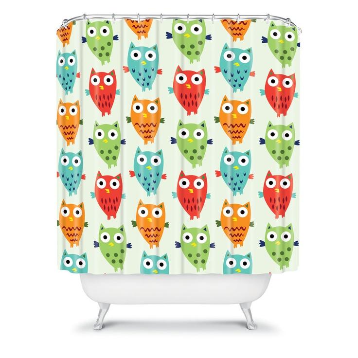 DENY Designs Home Accessories | Andi Bird Owl Fun Shower Curtain