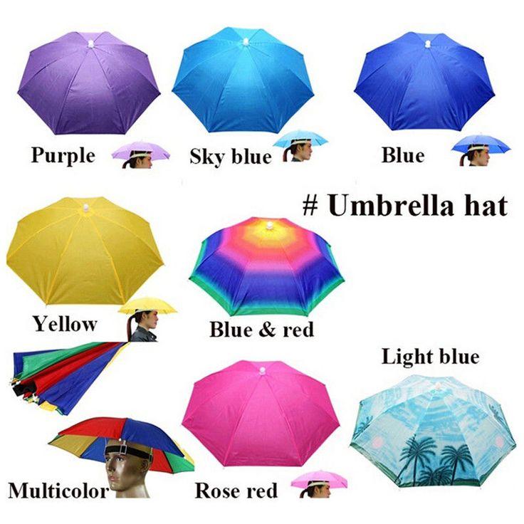 1pc Outdoor Foldable Sun Umbrella Hat Golf Fishing Camping Headwear Cap Head Hat Ebay Fashion Fishing Umbrella Blue Umbrella Kids Umbrellas