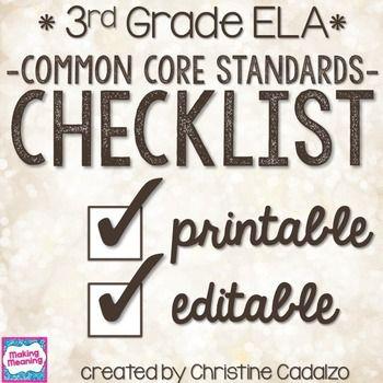 Best 25+ Common core checklist ideas on Pinterest Common core - checklist format word