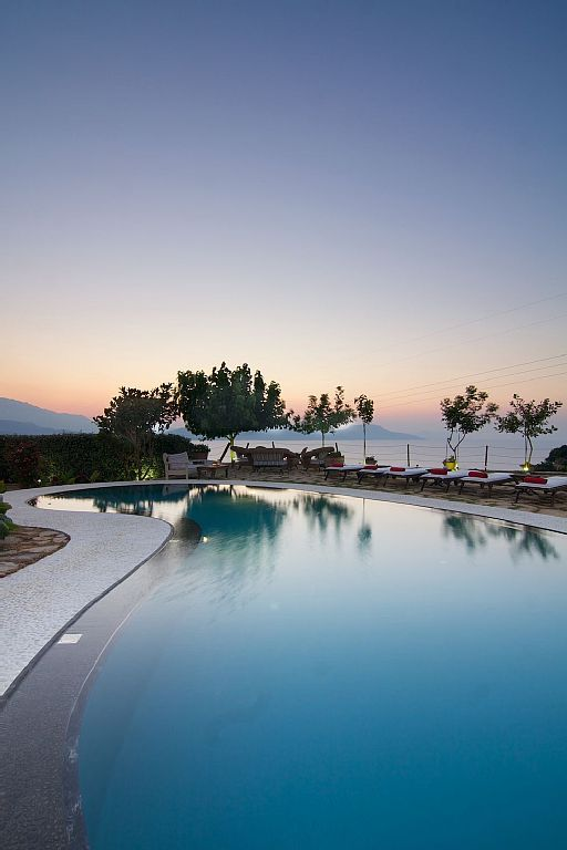 Rethymno villa rental - Private swimming pool with amazing views of the area!