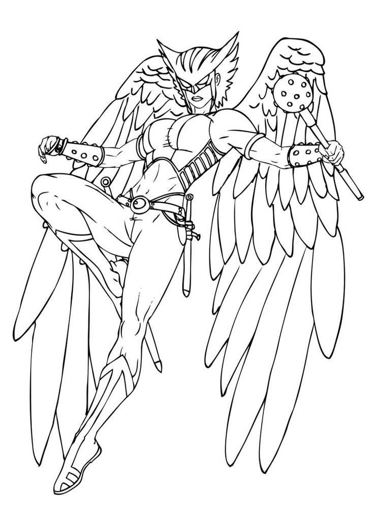 Hawkgirl Coloring Pages Hawkgirl