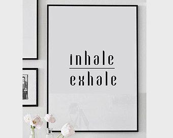 Respira impresión, cartel de yoga, meditación, inhale exhale de, yoga impresión…