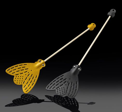 Fly Fly fyswatter black and yellow by Essey