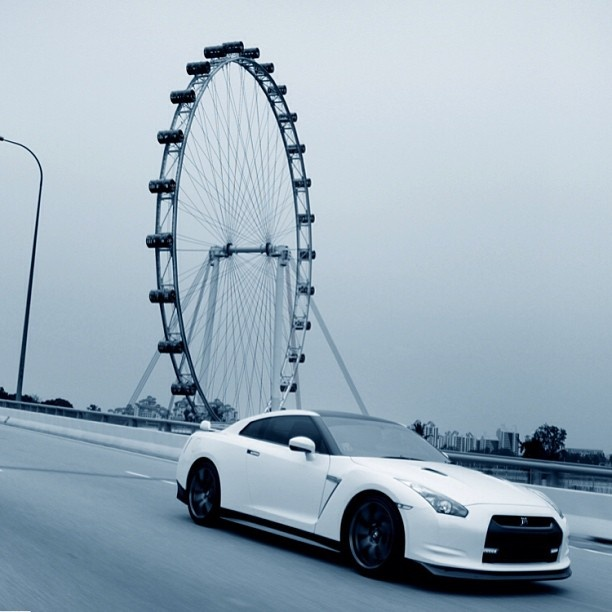 White Godzilla in Singapore #NissanGTR
