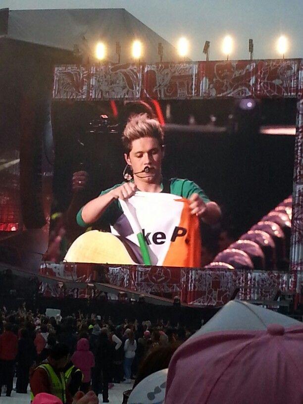 Niall and his flag