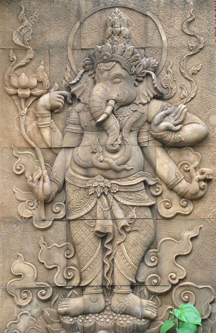 Image from http://previews.123rf.com/images/mangone8/mangone81204/mangone8120400021/13028011-Classi-stone-sculpture-of-indian-god-ganesh--Stock-Photo-ganesha.jpg.