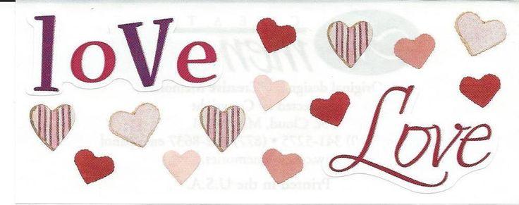 CREATIVE MEMORIES STICKERS: VALENTINE'S DAY HEARTS LOVE #MrsGrossman